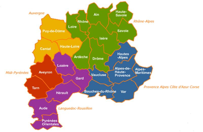 Cartina Francia Sud Dettagliata.Le Alpi Francesi E La Loro Suddivisione I Comprensori E Le Stazioni Sciistiche