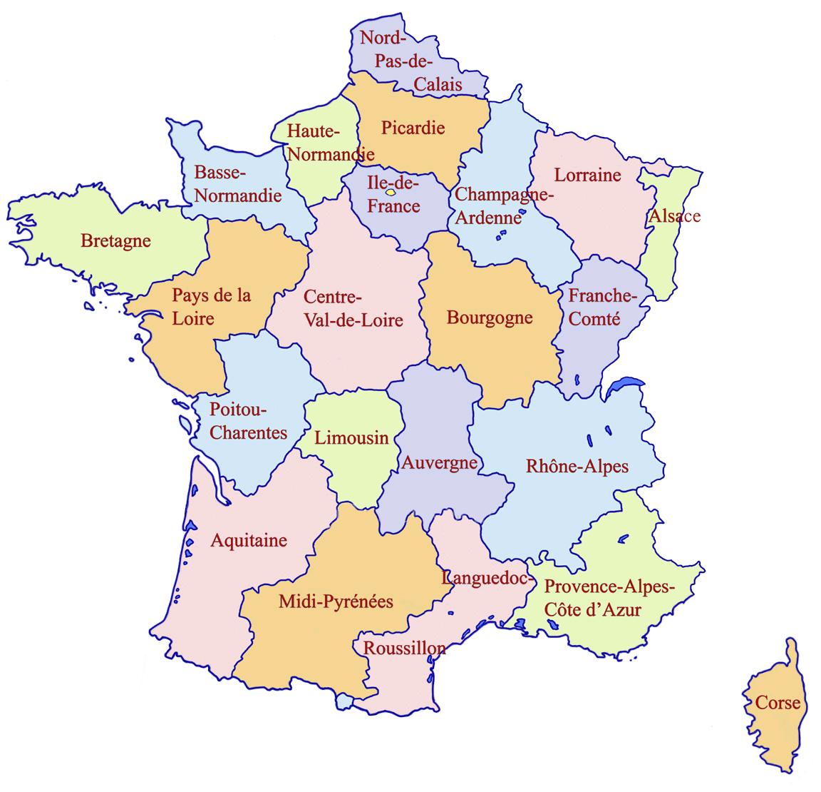 Dipartimenti Francia Cartina.La Nostra Francia Mini Guida Hotel Chalets E Residence