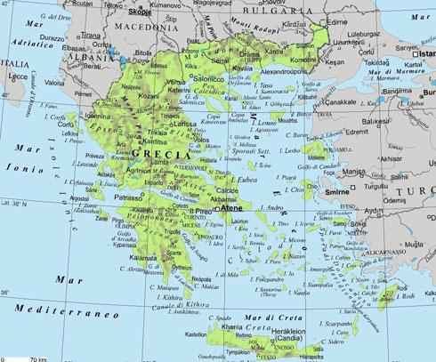 Cartina Geografica Isole Greche.Gecia Storia Hotels Villaggi Vacanze Al Mare Isole Del