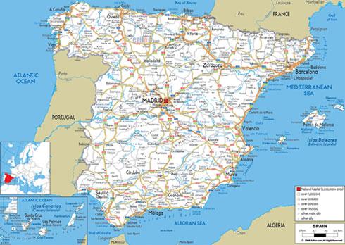 Cartina Geografica Spagna E Isole.Spagna Miniguida Vacanze Hotels Villaggi
