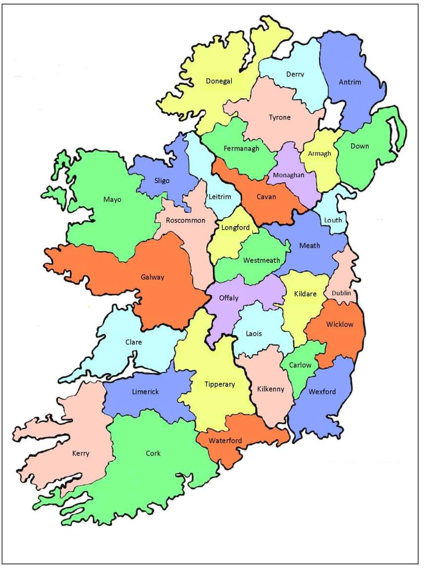 Irlanda Cartina Turistica.Guida Dell Irlanda Informazioni Turistiche Hotels Tours Informations