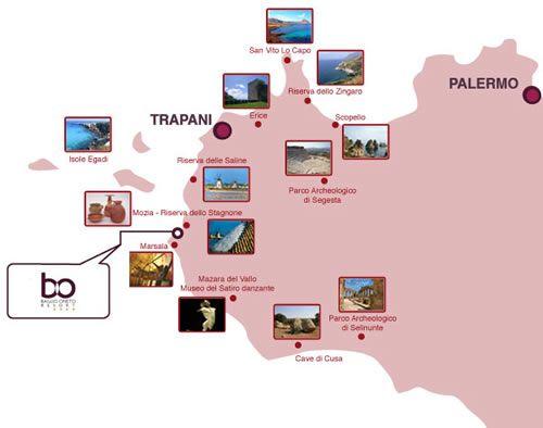 Cartina Turistica Sicilia Occidentale.Baglio Oneto Resort Marsala Sicilia Occidentale Italia